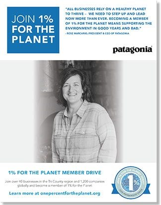 1% for the planet event campaign